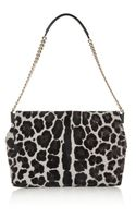 Jimmy Choo Ally Leopardprint Calf Hair Shoulder Bag - Lyst