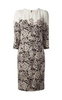 Dolce & Gabbana Lace Print Dress - Lyst