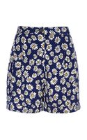 River Island Blue Daisy Print High Waisted Shorts - Lyst