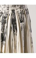 Bottega Veneta Lace Printed Pleat Skirt - Lyst