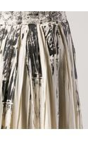 Bottega Veneta Lace Printed Pleat Skirt