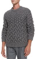 Michael Kors Chunky Cableknit Sweater - Lyst
