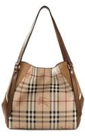 Burberry London House Check Tote Bag - Lyst