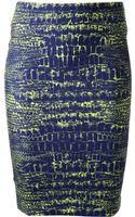 McQ by Alexander McQueen Crocodile Print Pencil Skirt - Lyst