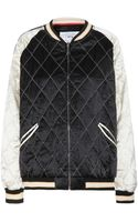 McQ by Alexander McQueen Silk Bomber Jacket - Lyst