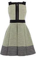 Karen Millen Mixed Neon Tweed Dress - Lyst