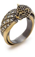 Iosselliani Crystal Brass Ring - Lyst