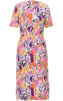 House Of Holland Short Sleeve Dress - Lyst