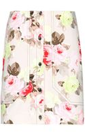 Carven Cropped Floralprint Stretchcotton Jacket - Lyst