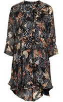 Topshop Toile Feather Print Shirt Dress - Lyst