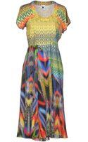 M Missoni Knee-length Dress - Lyst
