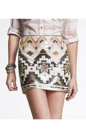 Express Sequin Embellished Mini Skirt - Lyst