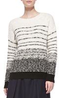 Vince Textured Stripe Knit Sweater - Lyst