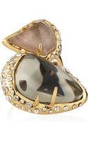 Alexis Bittar Stacked Cocktail Ring with Moonstone  Pyrite - Lyst