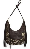 Michael Kors Michael Rhea Studded Medium Slouchy Shoulder - Lyst
