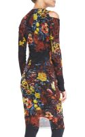 Jean Paul Gaultier Floral-print Long-sleeve Dress with Cold Shoulders - Lyst