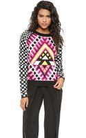 Mara Hoffman Jacquard Pullover  Checkers - Lyst
