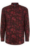Diesel Rose Print Shirt - Lyst
