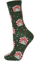 Topshop Gingerbread House Ankle Socks - Lyst