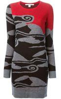 Diane Von Furstenberg Jacquard Knitted Dress - Lyst