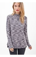 Forever 21 Textured Marled Knit Sweater - Lyst