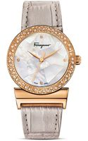 Ferragamo Grande Maison Gold Ion Plated Stainless Steel Watch 33mm - Lyst