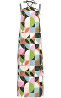 Isa Arfen Multi Strap Long Dress in Printed Canvas - Lyst