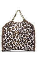 Stella McCartney Pre-owned Leopard Print Falabella Tote - Lyst