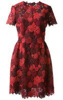 Valentino Floral Macramé Dress - Lyst
