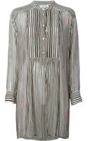 Etoile Isabel Marant Striped Sheer Blouse Dress - Lyst