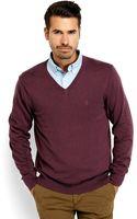 Izod V-neck Knit Sweater - Lyst