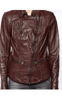 Muubaa Sirius Leather Biker Jacket - Lyst