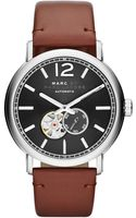 Marc By Marc Jacobs Mens Automatic Fergus Camel Leather Strap Watch 42mm - Lyst