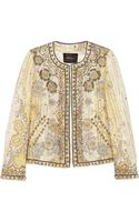 Isabel Marant Johnson Embellished Cotton Blend Jacket - Lyst