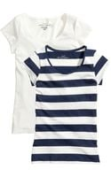 H&M 2pack Tops - Lyst