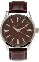 Ben Sherman R631 R631 Silver Tone  Brown Watch - Lyst