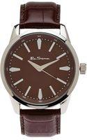 Ben Sherman R631 R631 Silver Tone  Brown Watch - Lyst