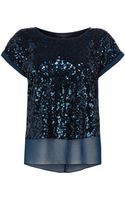 Coast Ruvern Sequin Top - Lyst