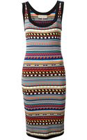 Emilio Pucci Patterned Knit Tank Dress - Lyst