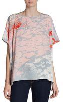 Diane Von Furstenberg New Hanky Printed Silk Top - Lyst