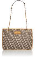 DKNY Saffiano Tan Chain Tote Bag - Lyst