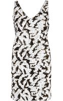 River Island Black and White Sequin Shift Dress - Lyst