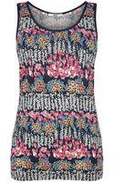 Oasis Utility Floral Placement Vest Top - Lyst