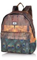 River Island Brown Hype Peacock Feather Print Backpack - Lyst