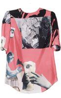 Carven Printed Silk Blouse - Lyst