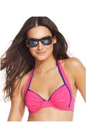 Tommy Bahama Underwire Colorblocked Halter Top - Lyst