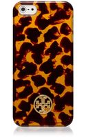 Tory Burch Tortoise Hardshell Case For Iphone 5 - Lyst
