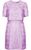Topshop 60s Lace Shift Dress - Lyst