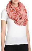 Tory Burch Primola Modal  Silk Logo Scarf - Lyst