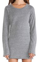 Velvet By Graham & Spencer Thea Heather Grey Knit Dress Long Sleeve Dress in Heather Grey - Lyst